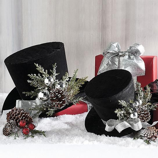 Indoor Christmas Decorations, Black