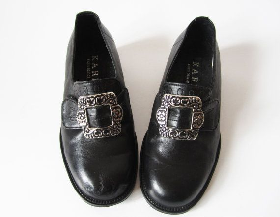 a185e79c0ff2e Black Leather Shoes Norwegian Bunad Children's by VintageDreamBox ...