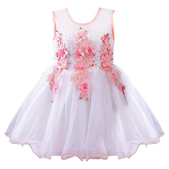 9267e9a744cf Wish Karo Baby Girls party wear Frock Dress DN (bx53t3-6 Months) Price  Rs.  599.00 - Rs. 799.00