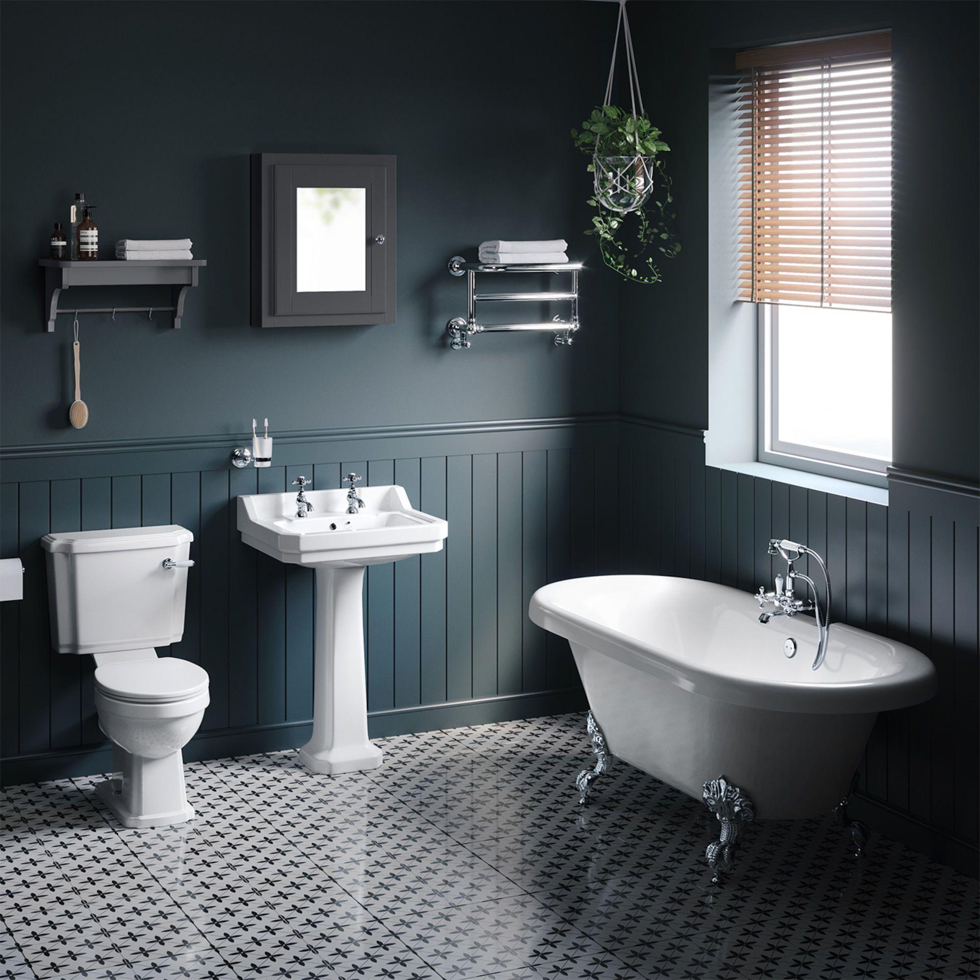 1700x750mm cambridge roll top freestanding bath suite