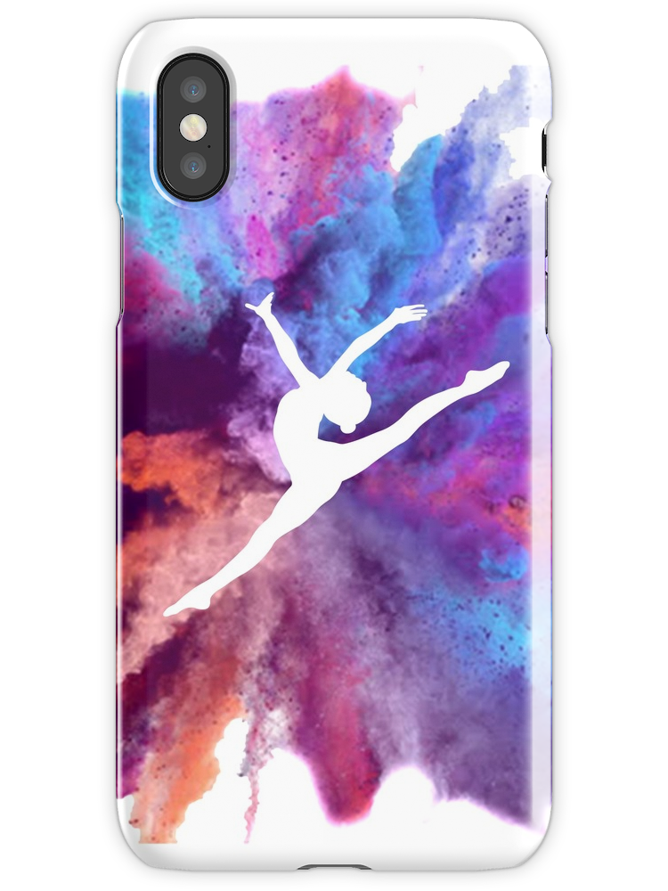Water Colour Gymnastics Silhouette iphone 11 case