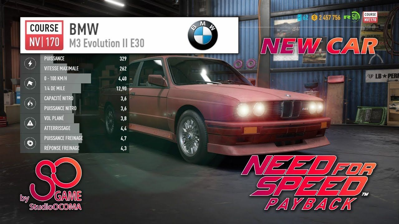 Find And Escape To Win The Bmw M3 Evolution Ii E30 Nfs Payback