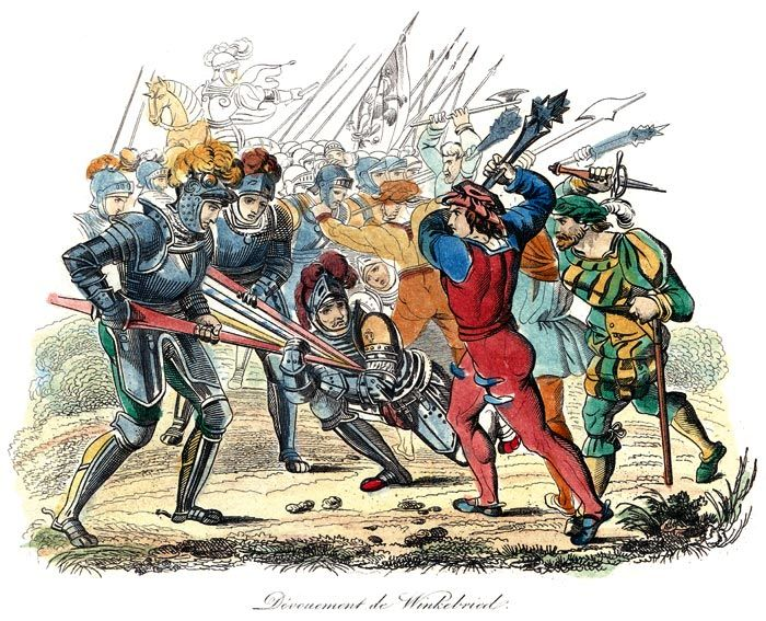 Arnold Winkelried to battle of Sempach