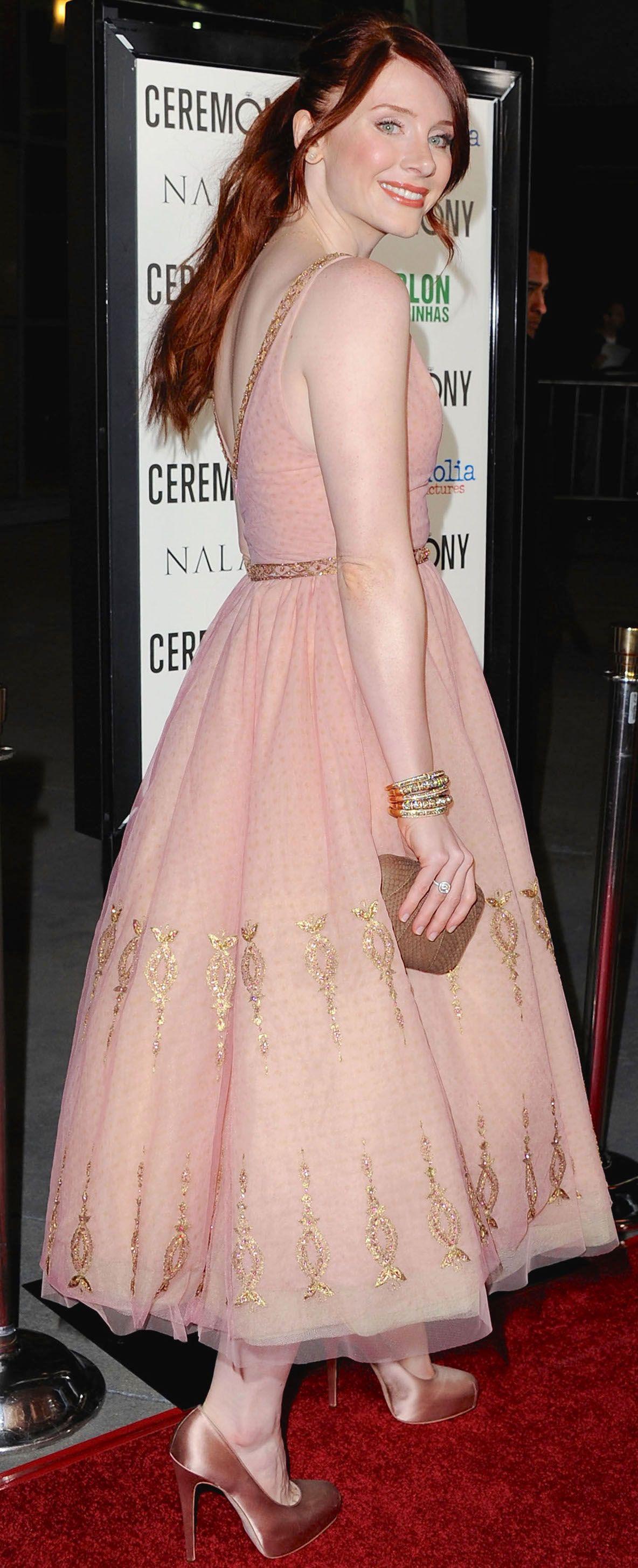 Bryce Dallas Howard in Reem Acra   Fashion   Pinterest   Actors ...