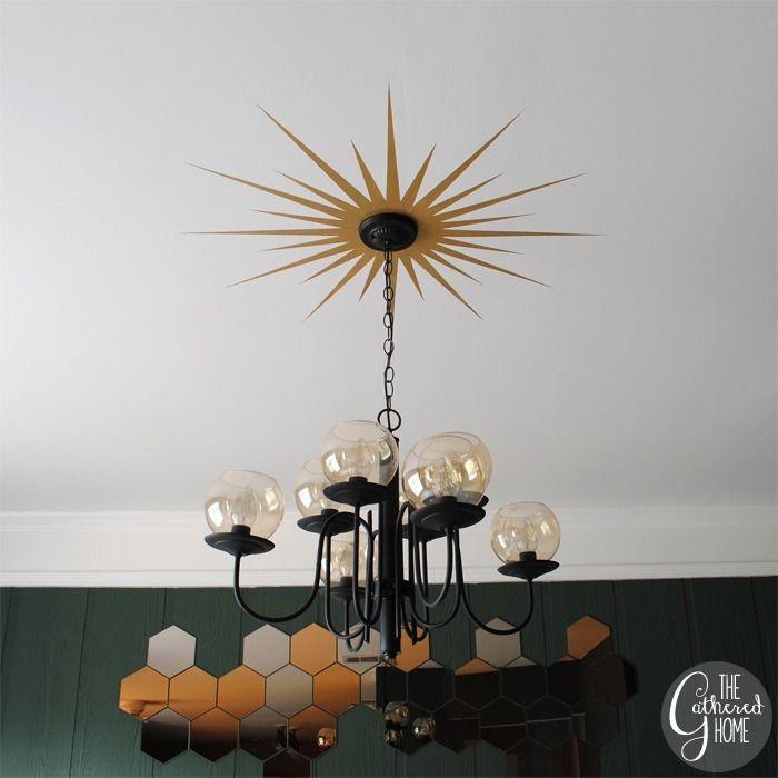 Diy Sunburst Ceiling Medallion Ikea