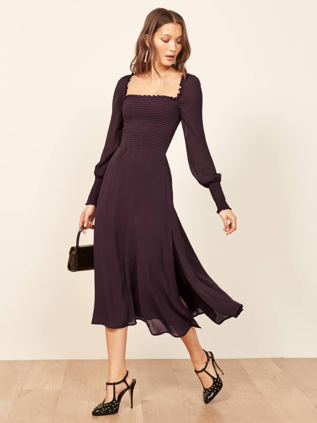 Blackberry rowan dress reformation ethical fashion outfits in