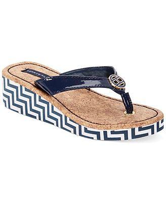 Tommy Hilfiger Girls' or Little Girls' Joy Chevron Wedge Sandals
