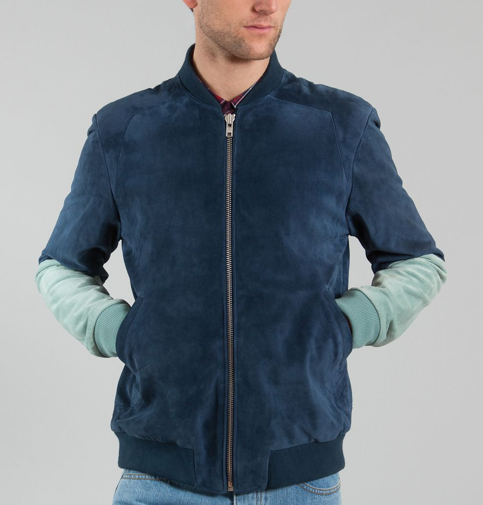 Brooklyn We Go Hard Bomber Kawa Cyan | Blouson, Manteau