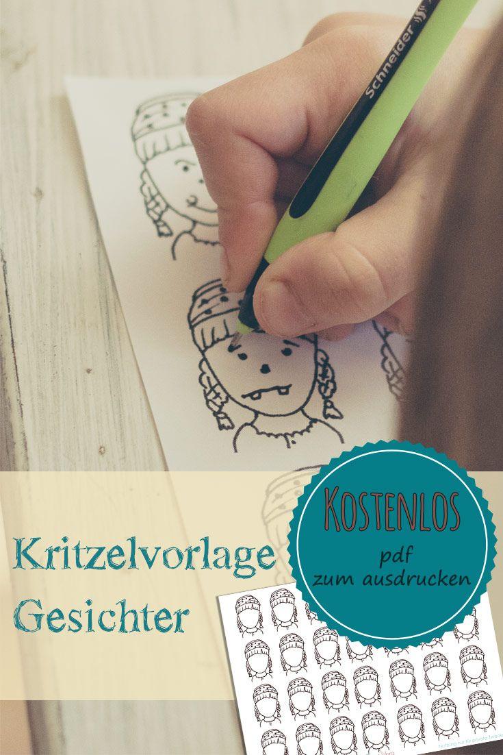 Gesichter zeichnen lernen mit kostenloser Malvorlage | PapaJahre ...