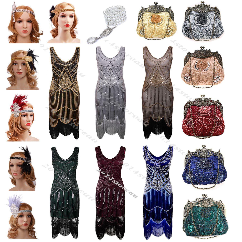 S flapper dress gatsby s dress deco beaded sequin fringed