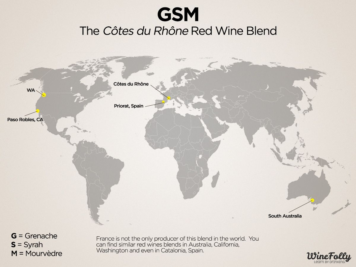 Time To Try Gsm The Cotes Du Rhone Blend Carte Des Regions