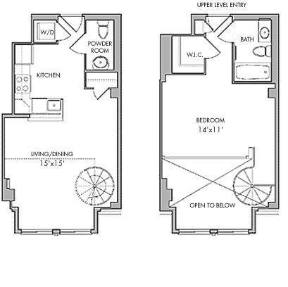 1225 13th Street Apartments Dc Loft Floor Plans Loft Plan Building Plans House