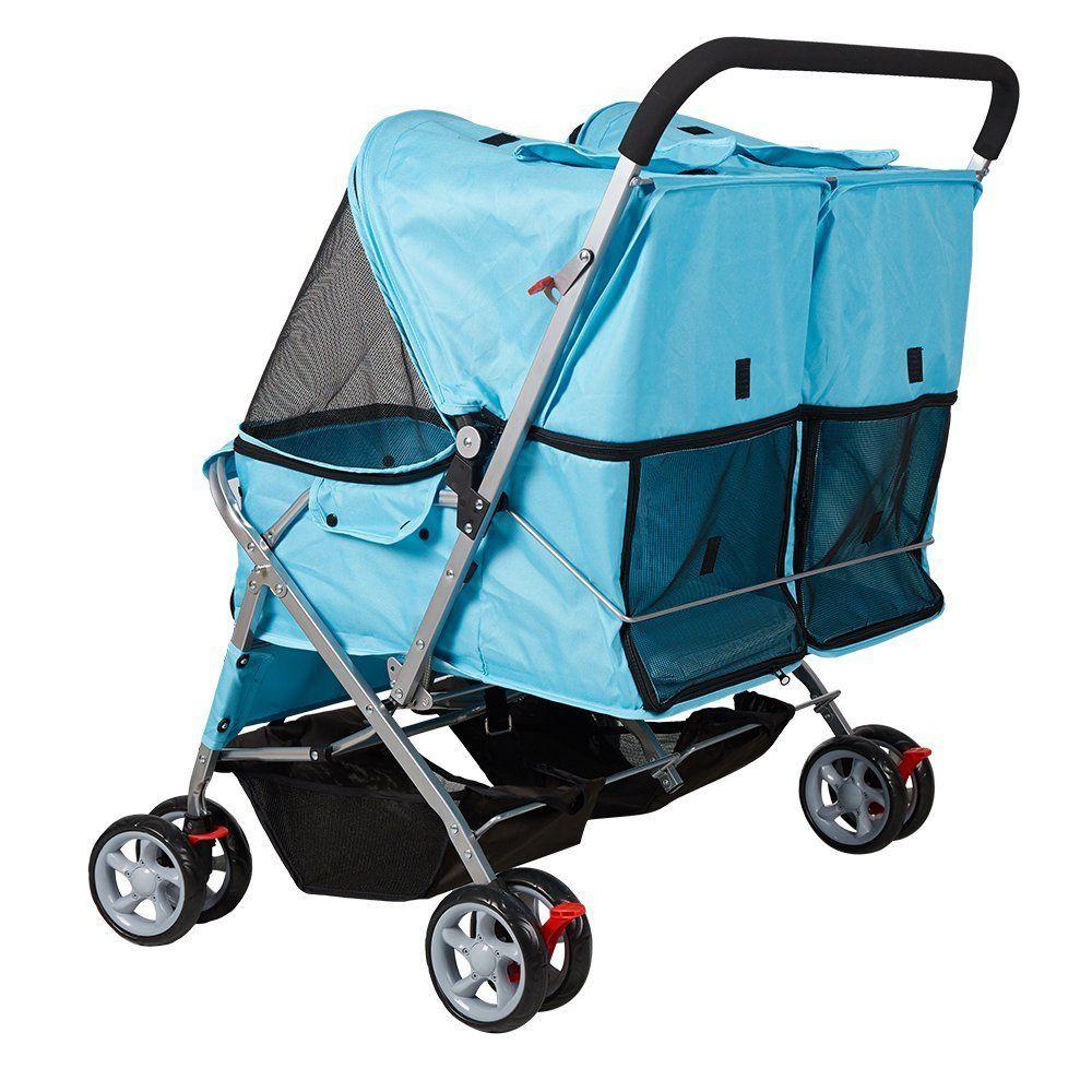 KARMAS PRODUCT Double Pet Stroller Wheels Large Strollers