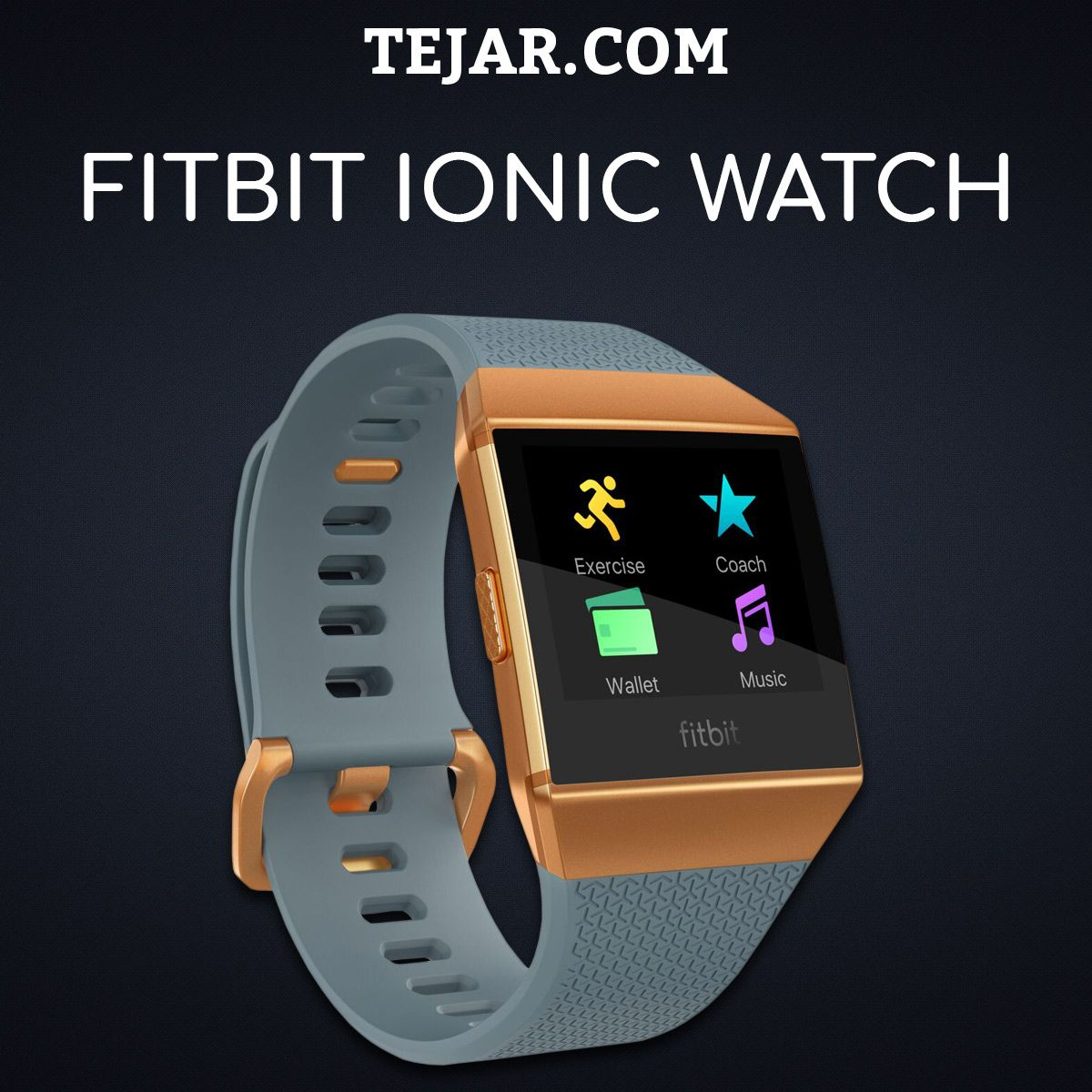 Fitbit Ionic Watch | Watches | Fitbit, Workout stations, Fitbit app