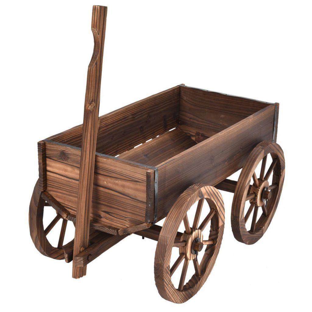 Pin By Nikiforov On Garden Wagon Wagon Planter Wood Wagon Wooden Wagon