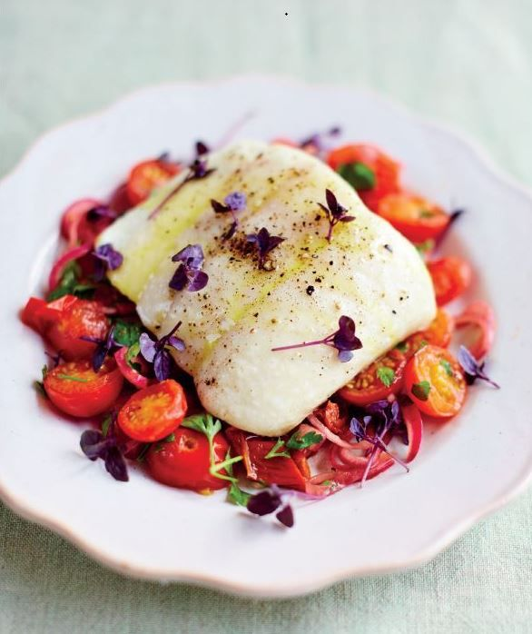 Halibut with road tomato and herb dressing for the receipe click halibut with road tomato and herb dressing for the receipe click this link https forumfinder Images
