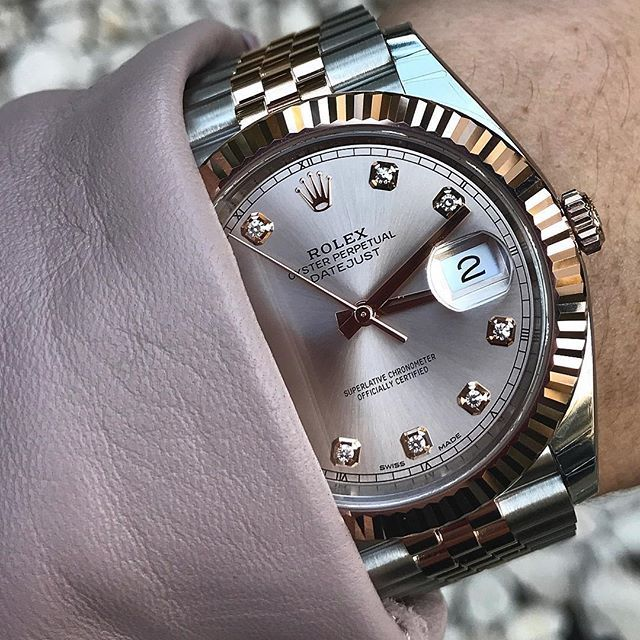 8daa0d15034 DATEJUST 41 with beautiful sundust dial Ref 126331