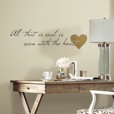 room mates heart quote peel and stick wall decal | products