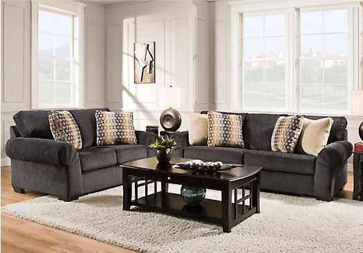Danes Graphite 2 Pc Living Room from Living Room Sets Furniture ...