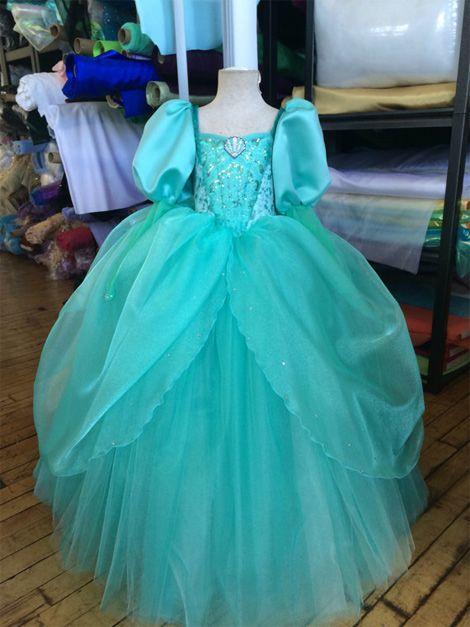 Das Princesas Disney Vestido Princesa Infantil Fantasia