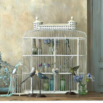 Vintage shelved birdcage cabinet  Angel @ my Table