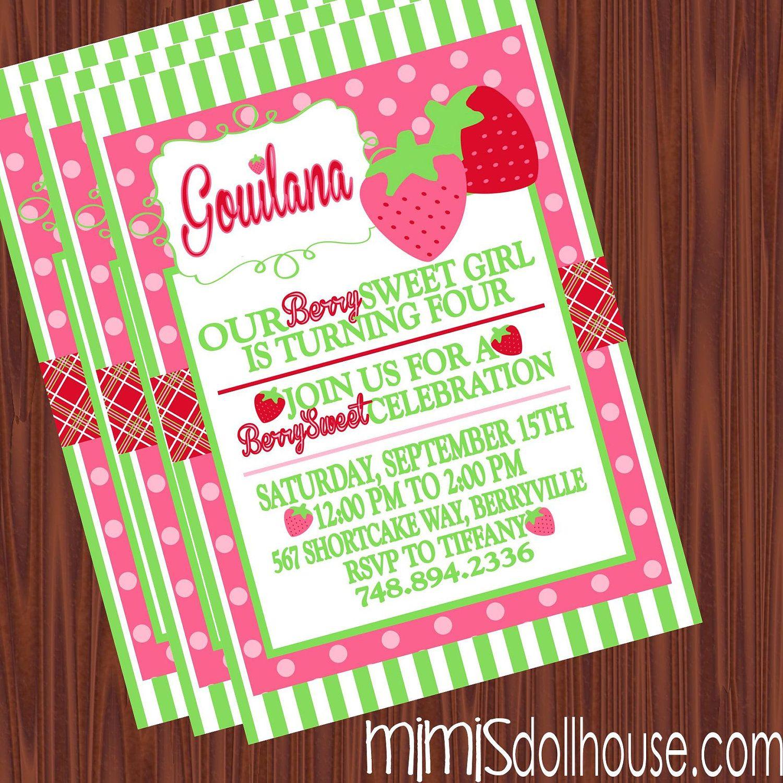 Strawberry Shortcake Party Strawberry Birthday