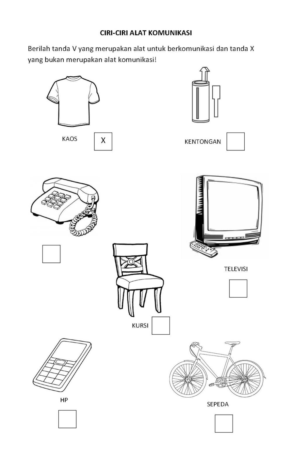 Mewarnai Gambar Alat Komunikasi Paud Di 2020 Dengan Gambar
