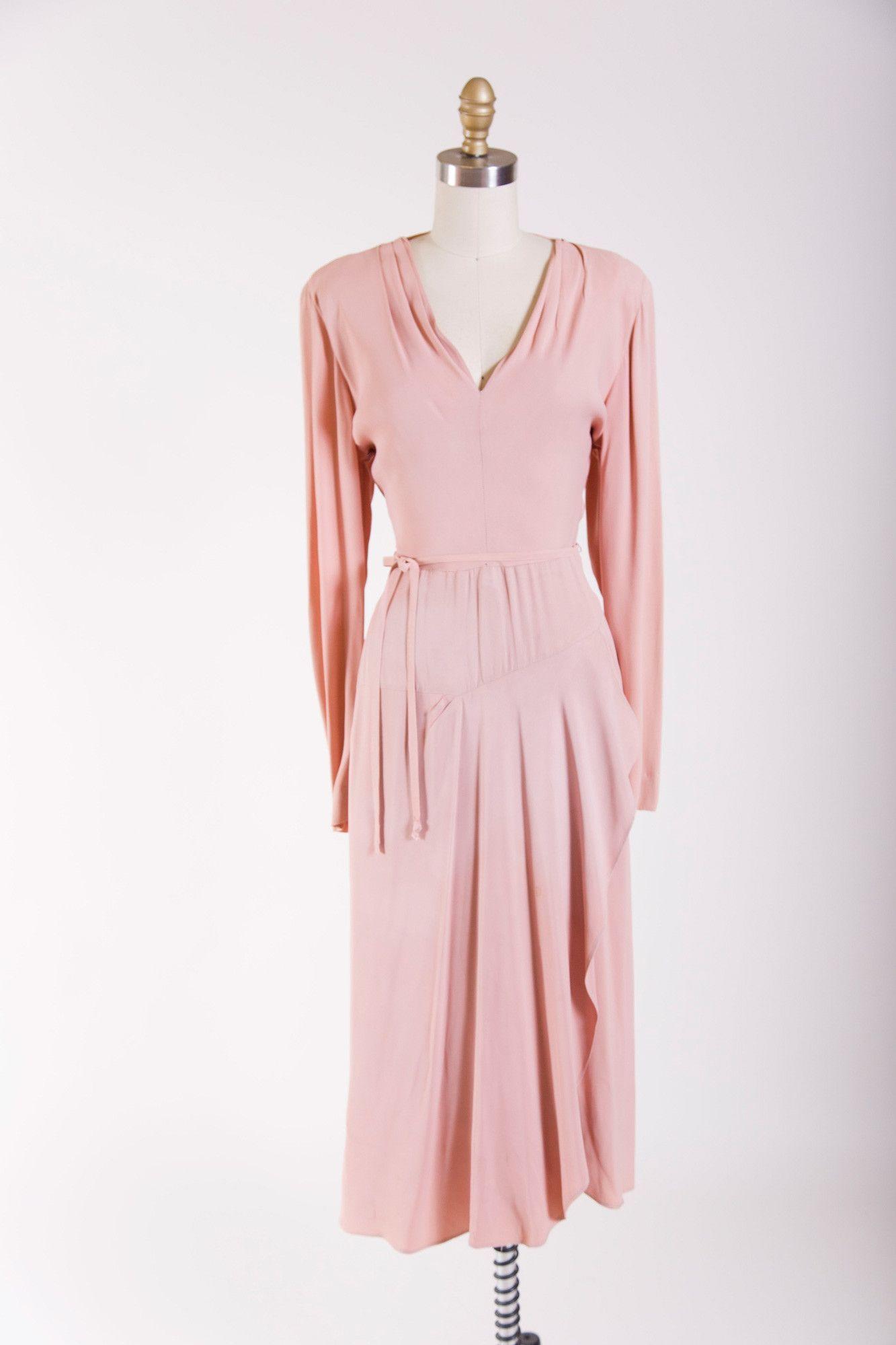 Dreaming blush dress s vintage clothes pinterest blush
