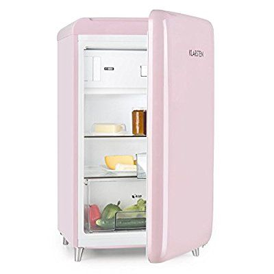 Klarstein PopArt Pink • Kühlschrank • Standkühlschrank • Retro Look ...