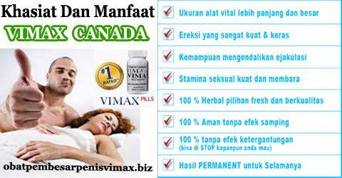 khasiat dan manfaat vimax canada sebagai obat pembesar penis