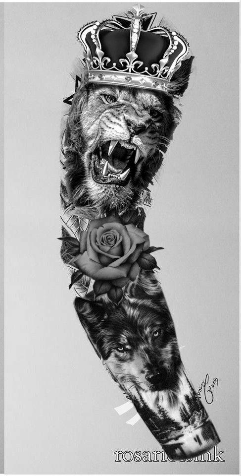 Sleeve Sleevetattoos Realistic Tattoo Sleeve Wolf Tattoo Sleeve Lion Tattoo Sleeves