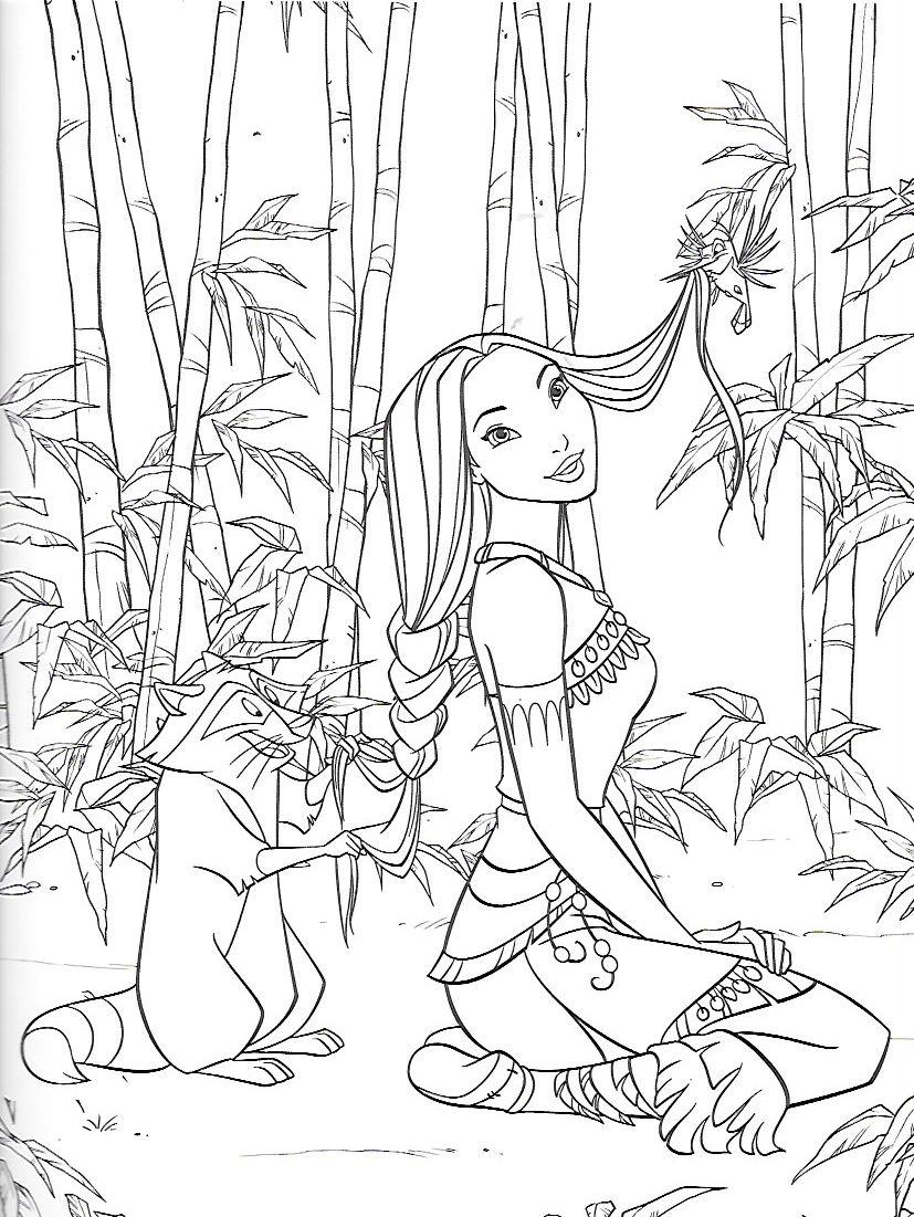 Pocahontas Coloring Page Disney Disney princess coloring pages Disney coloring pages