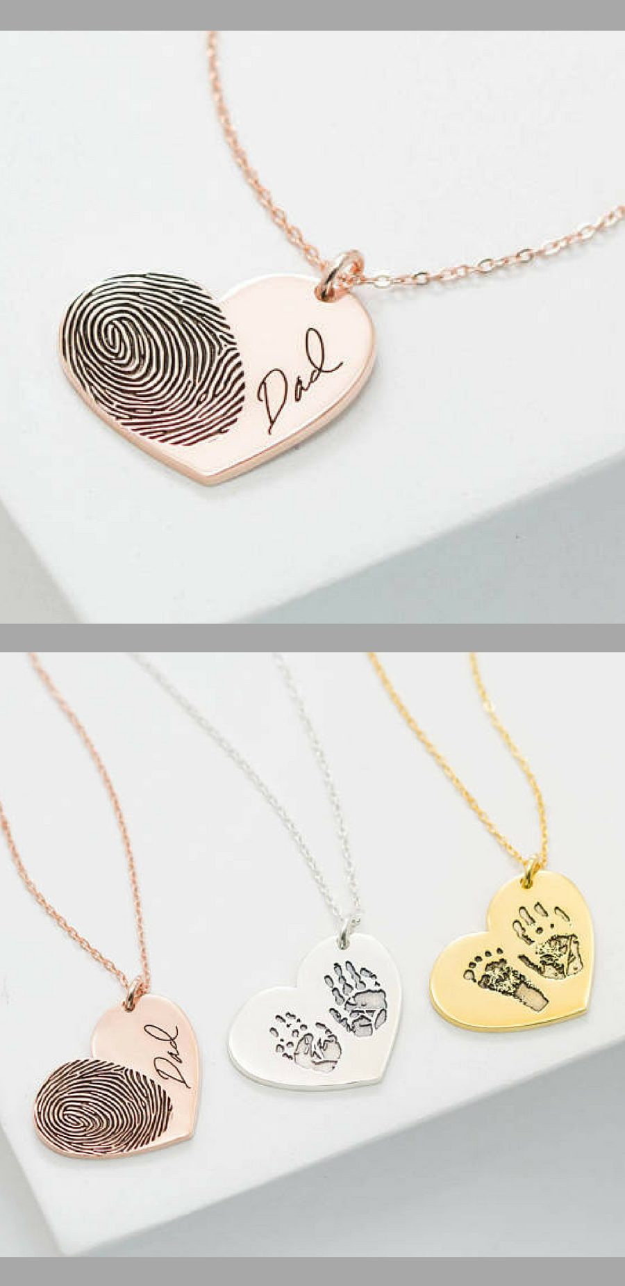 thumbies and array jewelry fingerprint personal memorials keepsakes it make necklace
