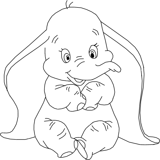 dumbo coloring pages bing images - Dumbo Elephant Coloring Pages
