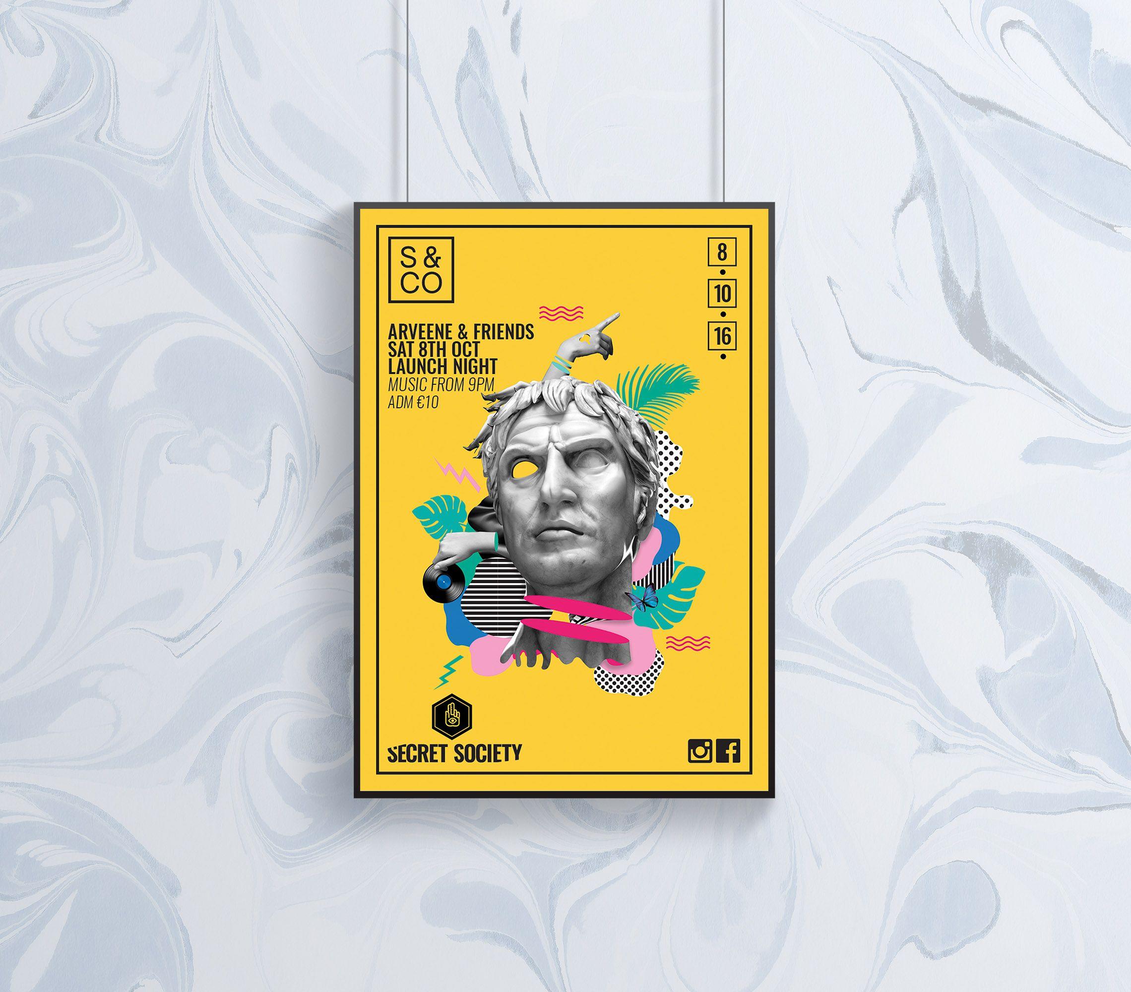 Bold Minimalist Game Fest Fest Flyer Template