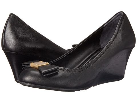 Cole Haan Tali Grand Bow Wedge 65 (Black) Women's Wedge Shoes