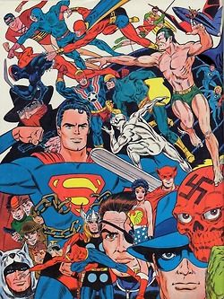 Marvel and DC Heroes by Jim Steranko