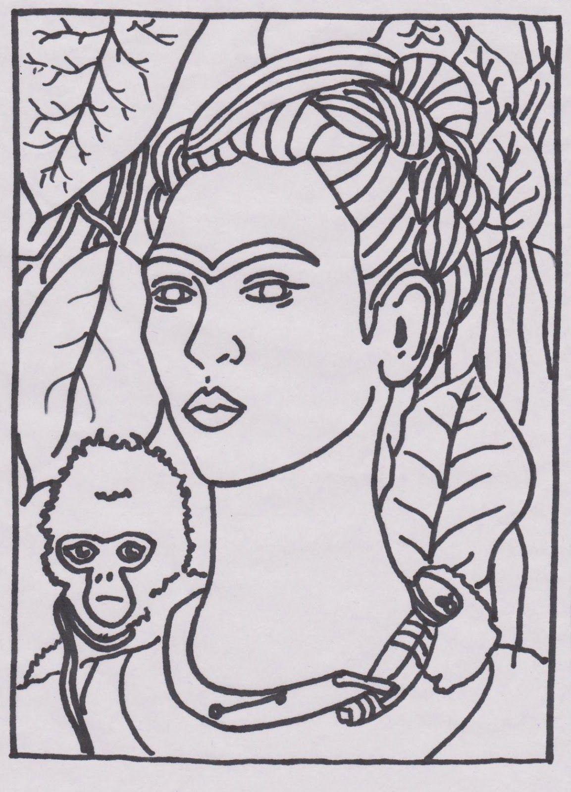 Famous Art Printable Frida Kahlo