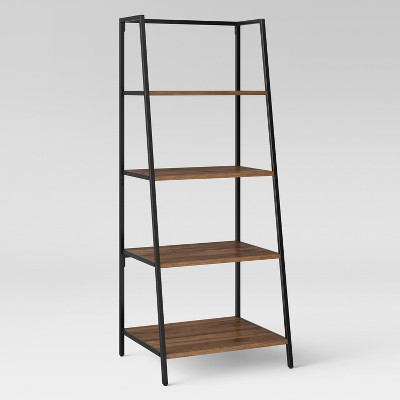 60 loring 4 shelf trestle bookcase walnut brown project 62 in rh pinterest com