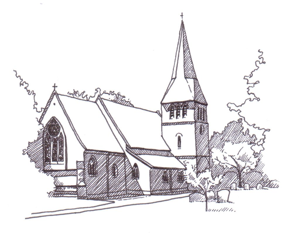 Lizzie Barton: church drawing for the order of service