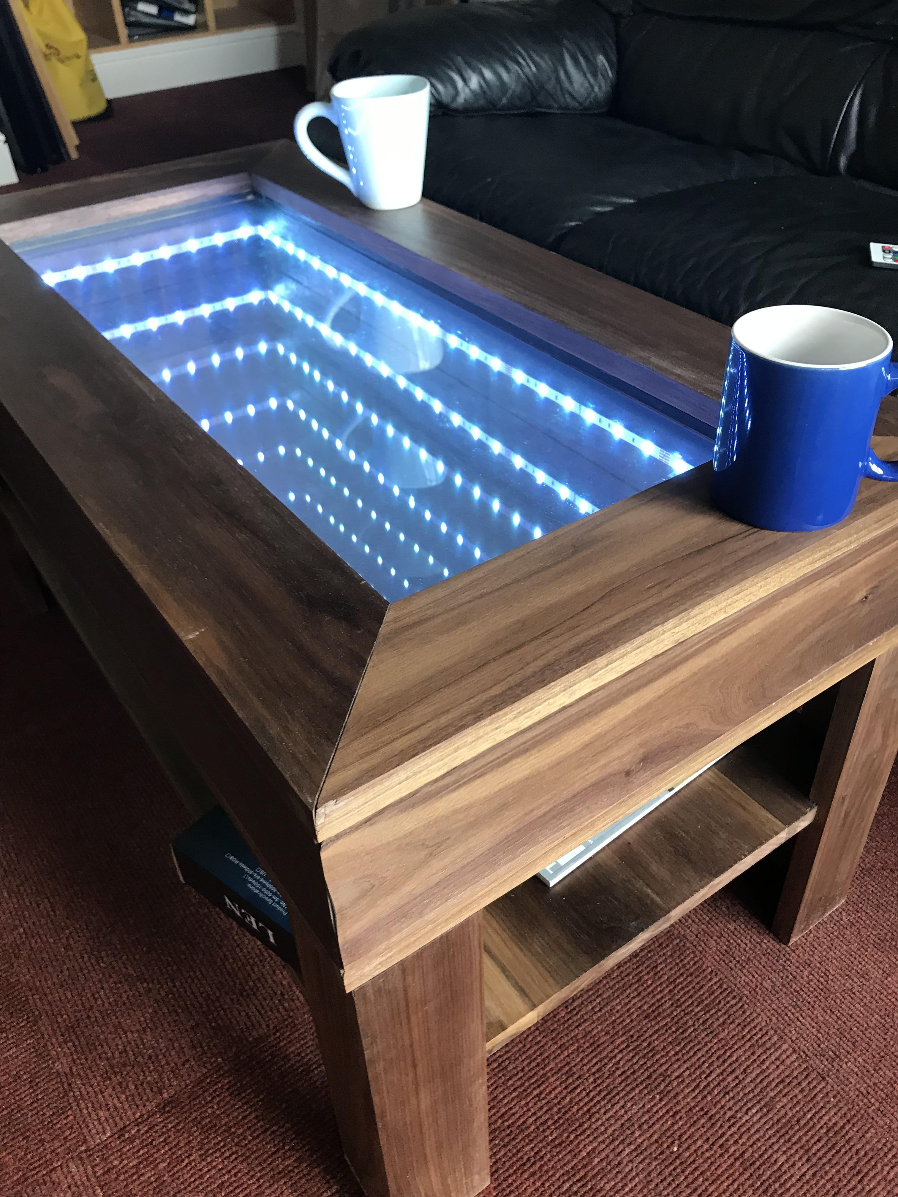 infinity mirror table ikea