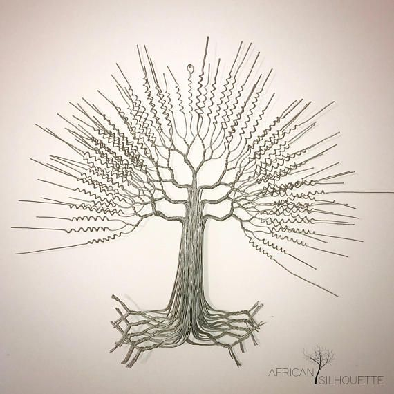 African Wire Tree Wall Art | living room | Pinterest | Tree wall art ...
