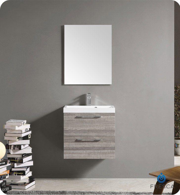Fresca Fvn8506ma 24 Wall Mount Matte Modern Bathroom Vanity With