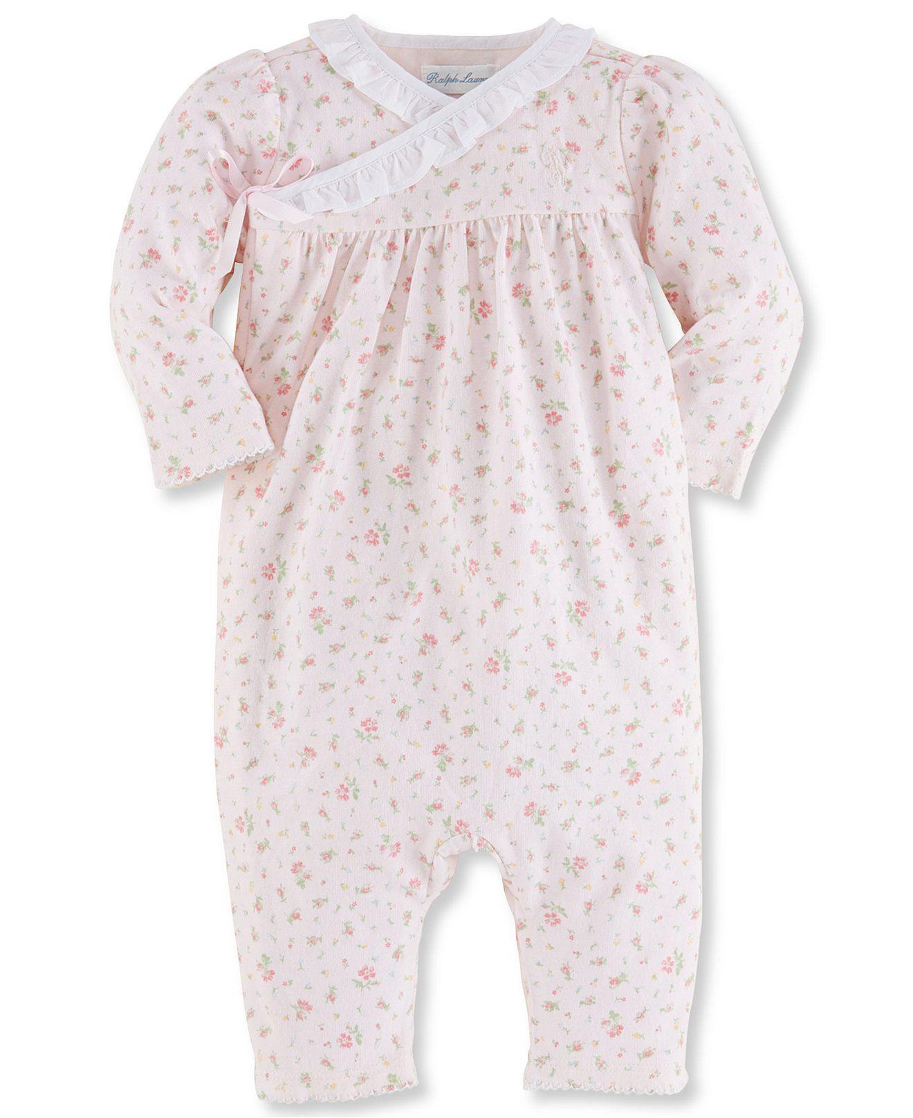 Ralph Lauren Baby Girls Printed Coveralls Kids Newborn Shop