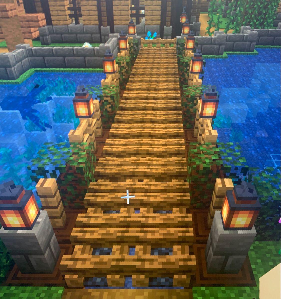 Minecraft Bridge Minecraft Houses Minecraft Cottage Minecraft Designs
