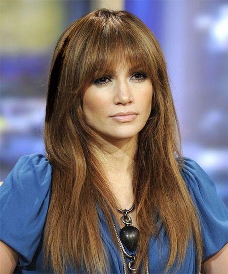 Cheryl Cole Wedding Hairstyle: Jennifer Lopez Hair, Long Hair With Bangs