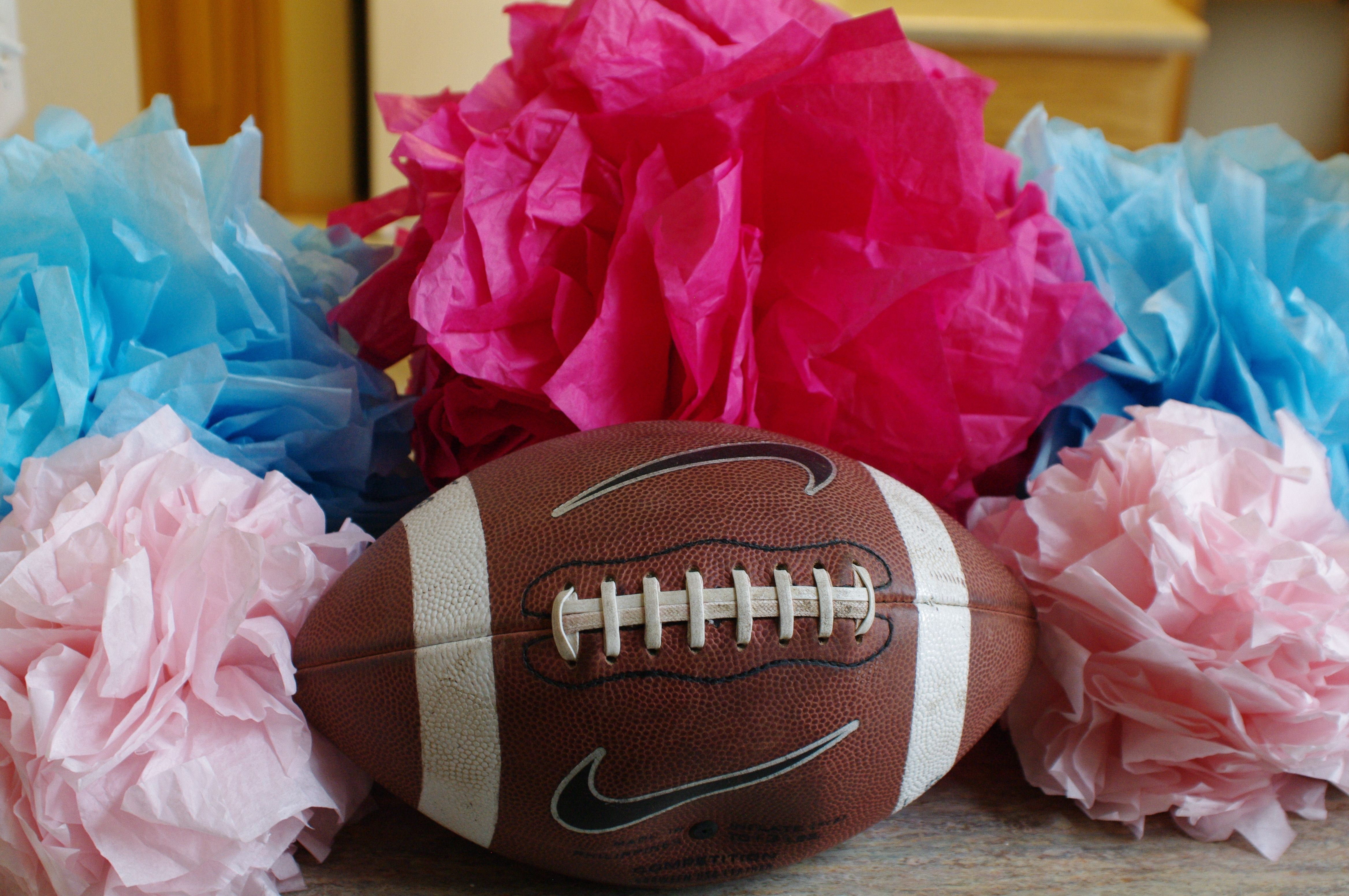 Pin By Shelby Stratton On Gender Reveal Party Gender Reveal Party Football Gender Reveal Party Baby Shower Gender Reveal