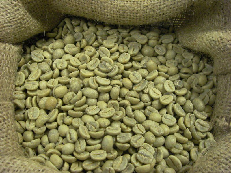 green coffee beans peru