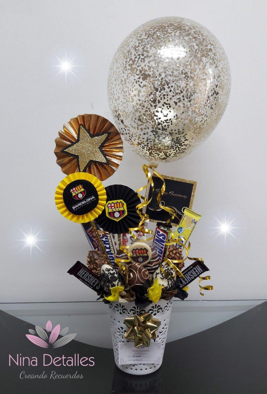El Honor Al Mas Grande Del Ecuador Barcelona Ninadetalles Birthday Wishes Flowers Valentine Gifts Balloon Gift