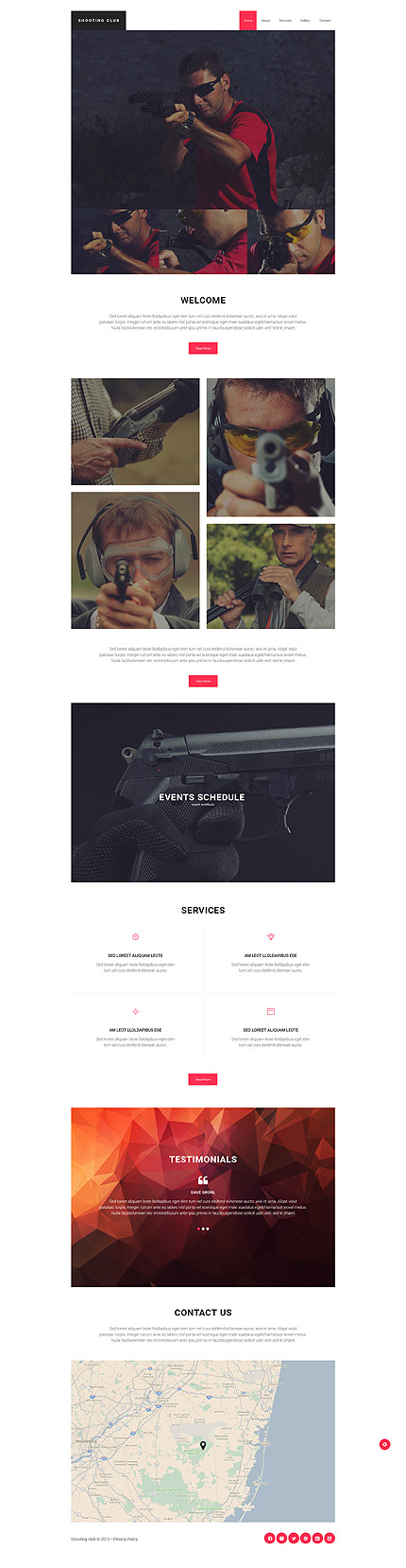 Shooting Club Website Template Themes Business Responsive